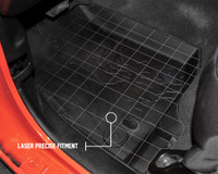 28010701 King 4WD Premium Four-Season Floor Liners Front and Rear Passenger Area Jeep Wrangler Unlimited JL 4 Door 2018-2019. Laser precise fitment.