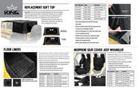 14019935 King 4WD Premium Upper Door Skins Black Diamond Passenger & Driver Side Jeep Wrangler TJ 1997-2006