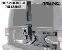 RTG Heavy Duty Tire Carrier - JK 2007-2018 Jeep Wrangler & Wrangler Unlimited