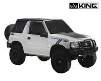 14011135 King 4WD Premium Replacement Soft Top, Black Diamond With Tinted Windows, 1986-1994 Suzuki Sidekick GEO Tracker