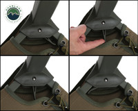 Wild Land Camping Gear - Chair With Storage Bag. 4 panel Camping Chair Leg Latch