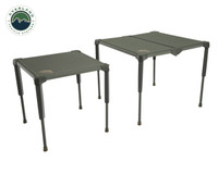 Wild Land Camping Gear - Table Size Large. Large Table beside Small Table.