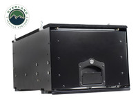 Cargo Box With Slide Out Drawer- Black Powder Coat. Standard view