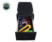 Cargo Box With Slide Out Drawer- Black Powder Coat. Inside Full Drawer
