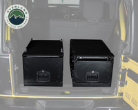 Cargo Box With Slide Out Drawer Size - Black Powder Coat Universal