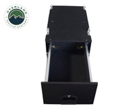 Cargo Box With Slide Out Drawer- Black Powder Coat. Inside Empty Drawer