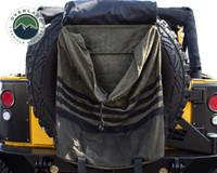 Extra Large Trash Bag Tire Mount - #16 Waxed Canvas Universal