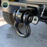 """Receiver Mount Recovery Shackle 3/4"""" 4.75 Ton With Dual Hole Black Universal"""