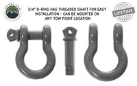 """Recovery Shackle 3/4"""" 4.75 Ton - Gray Universal"""
