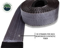 "Tow Strap 30,000 lb. 3"" x 30' Gray With Black Ends & Storage Bag"