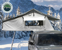 18039926 OVS Nomadic 3 Extended Roof Top Tent - White Base With Gray Rain Fly & Black Cover Universal. The Overland Vehicle System Nomadic 3 RTT is installed on a Toyota Tacoma on a Truck Bed Rack.  The Overland Vehicle Systems Nomadic 3 Rooftop Tent is a universal Roof Top Tent. truck bed tent, rooftop tent, truck tent, roof top tent, vehicle tents rooftop tent, overland vehicle systems, roof tent, truck camper tent, roof tent for truck, rooftop tents, jeep gladiator accessories, rooftop tent hard shell, roof rack, roof top tents, truck accessories, suv tents for camping, roof top tent camping, truck bed accessories, truck tents for camping, toyota tacoma accessories, car tent, roof rack awning, rooftop tents for camping, truck bed & tailgate bed tents, overlanding gear, car awning, roof tents, truck bed tents, fj cruiser accessories, tailgate tent, tacoma tent, tent for truck, truck bed rack, bed tents, truck camping tent, bed of truck tent, overland tent, RTTroof top tent, roof top tent 4 person, roof top tent 4runner, roof top tent annex,roof top tent camper, roof top tent camping, roof top tent car, roof top tent cheap, roof top tent cvt, roof top tent diy, roof top tent for car, roof top tent for jeep wrangler, roof top tent for sale, roof top tent for subaru forester, roof top tent for Tacoma, roof top tent for truck, roof top tent hard shell, roof top tent jeep, roof top tent jeep wrangler, roof top tent on trailer, roof top tent on truck, roof top tent pop up, roof top tent rental, roof top tent sale, roof top tent smittybilt, roof top tent subaru outback, roof top tent Tacoma, roof top tent tepui, roof top tent trailer, roof top tent truck, roof top tent used, roof top tent with annex