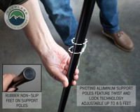 270 awning poles quick release