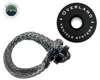 "Combo Pack Soft Shackle 5/8"" With Collar 44,500 lb. and Recovery Ring 6.25"" 45,000 lb. Black"