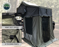 Nomadic 3 Extended Roof Top Tent With Annex - Green and Gray