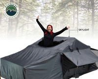 Nomadic 4 Extended Roof Top Tent With Annex - Green and Gray
