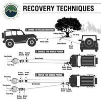 19109902 Aluminum Receiver Mount- Recovery Techniques information graphics.