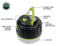 15049918 portable camp light- Informational call outs