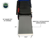 Nomadic Awning 1.3 - 4.5' With Black Cover- awning fully exposed to show measurements and square footage