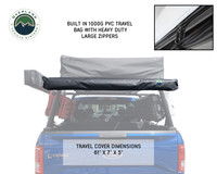 Nomadic Awning 1.3 - 4.5' With Black Cover- The black carrying case is being highlighted on a installed truck.