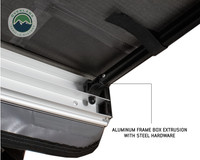 Nomadic Awning 1.3 - 4.5' With Black Cover- Aluminum frame box is shown up close.
