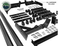 Freedom Bed Rack Full kit laid out for display.  All hardware shipped with kit is shown