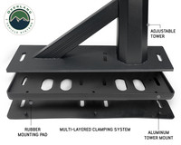 Freedom Bed Rack 3- part clamping system set up to see the different layers and component