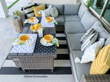 Sunny Citrus Summer Patio Tablescape