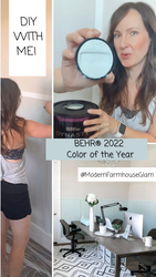 DIY Home Office Makeover at Modern Farmhouse Glam with BEHR® 2022 Color of the Year