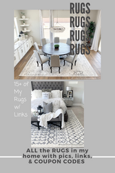 ALL of the RUGS in my HOME, with pics & clickable discounted links and/or Coupon Codes!
