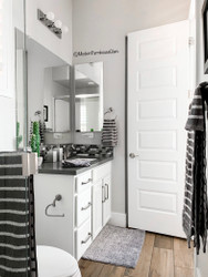 Bathroom REFRESH! A peek into one of our secondary bathrooms!