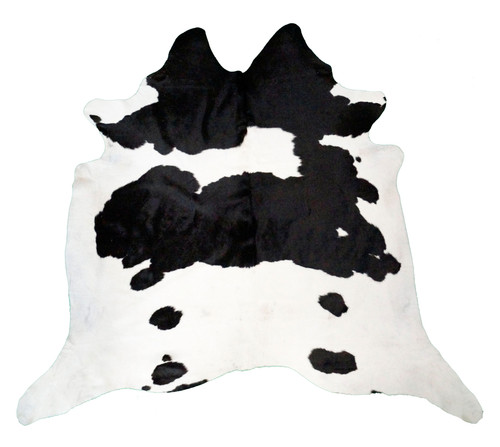 Black and White Real Cowhide Rug, 5x7