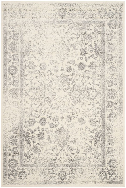 """""""Glam Neutral"""" Neutral Ivory/Silver (My Conversation Area Room Rug) 9x12"""