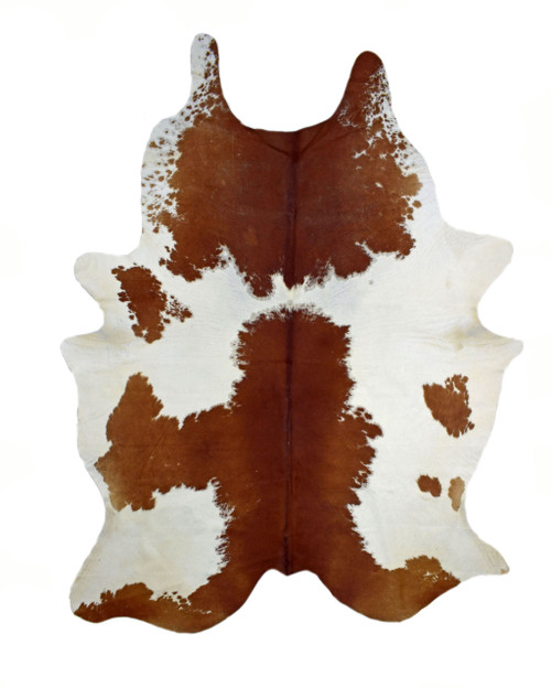 Brown and White Cloudy Real Brazilian Cowhide Rug