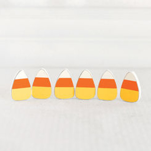 Wooden candy corns, decor for Halloween