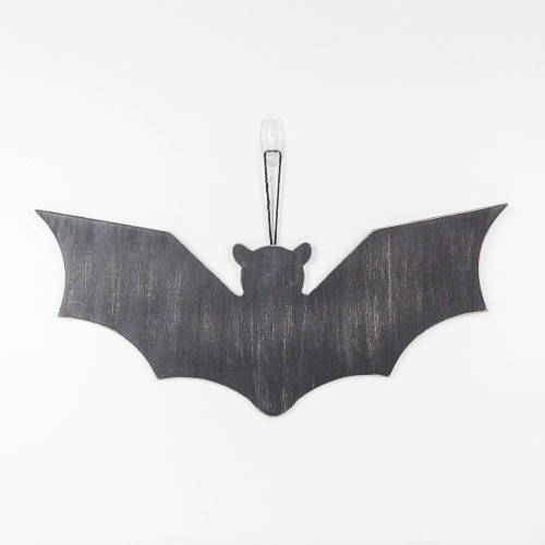 "Large Wood Cutout (Bat), Black,22"" X 9.5"" X .25"""