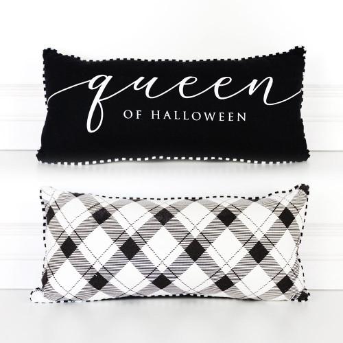 Queen of Halloween Pillow, 18.25 x 8.25
