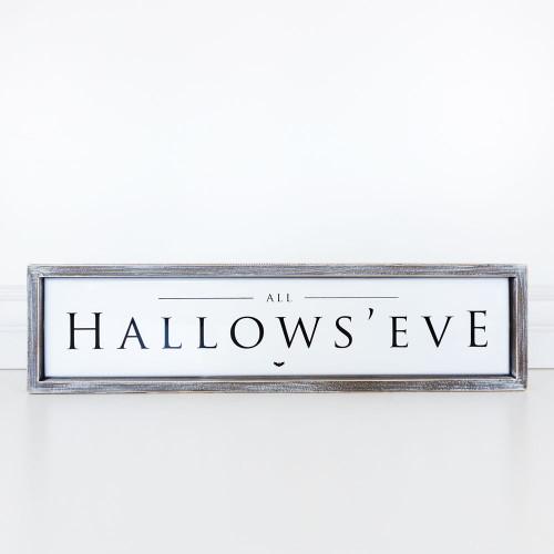 Hallow's Eve Halloween Sign, 23.5 x 6 x 1.5
