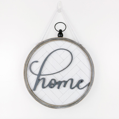 Large Home sign, reversible, 14x14x2