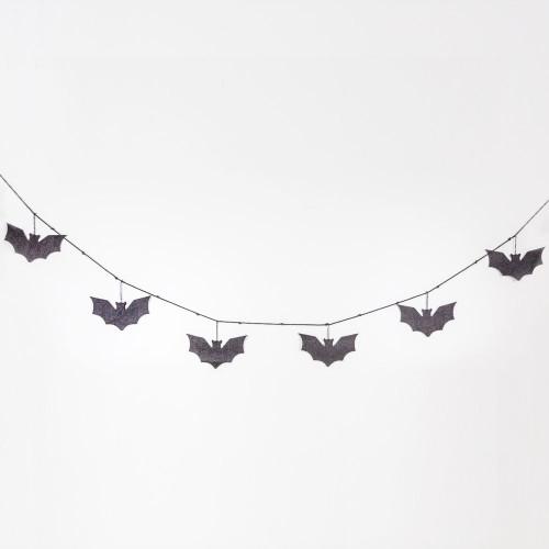 "Halloween Felt Swag  Garland (Bats), Black 65"" X 4.25"" X .25"""