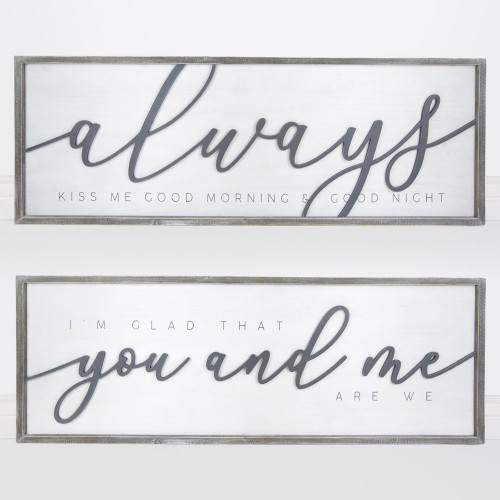 47 x 16x 1.5 Extra Large, Always Reversible Wooden Sign