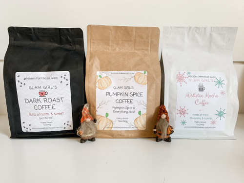 Select any 3 Glam Girl's Coffees and seasonal gnome gift at checkout!
