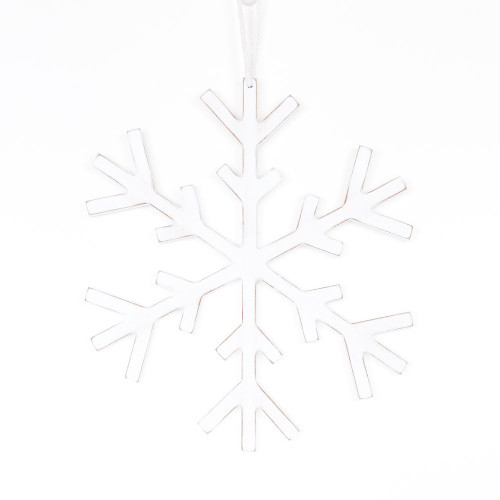 Large Wooden Snowflake Ornament 12x12x.5  Free Shipping!  Cute on the back of you dining room chairs for Christmas!