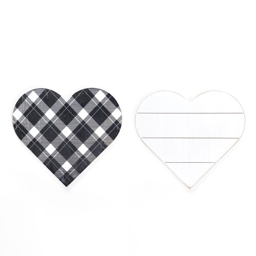 (Out of Stock) Wooden Valentine Day's Heart, 9 x 8 x 1.5 (double sided design)