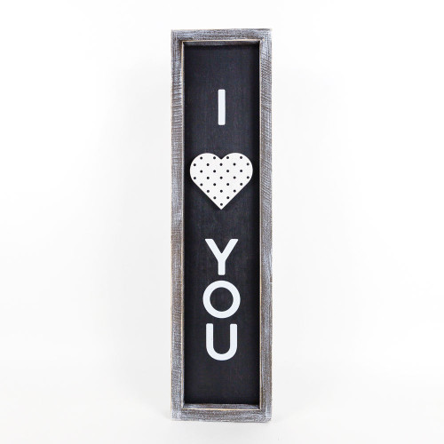 I Love You Wooden Valentine's Day Sign, 24 x 6 x 1.5