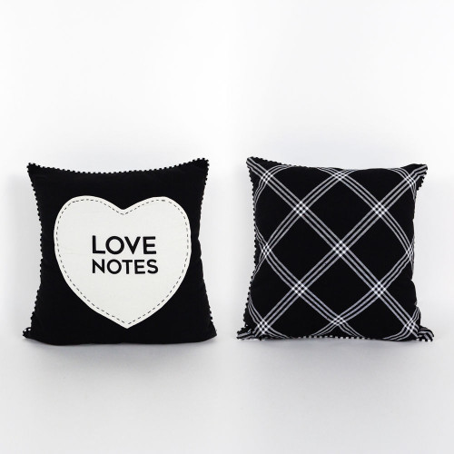 Love Notes Pillow, Valentines Day 14.25 x 14.25