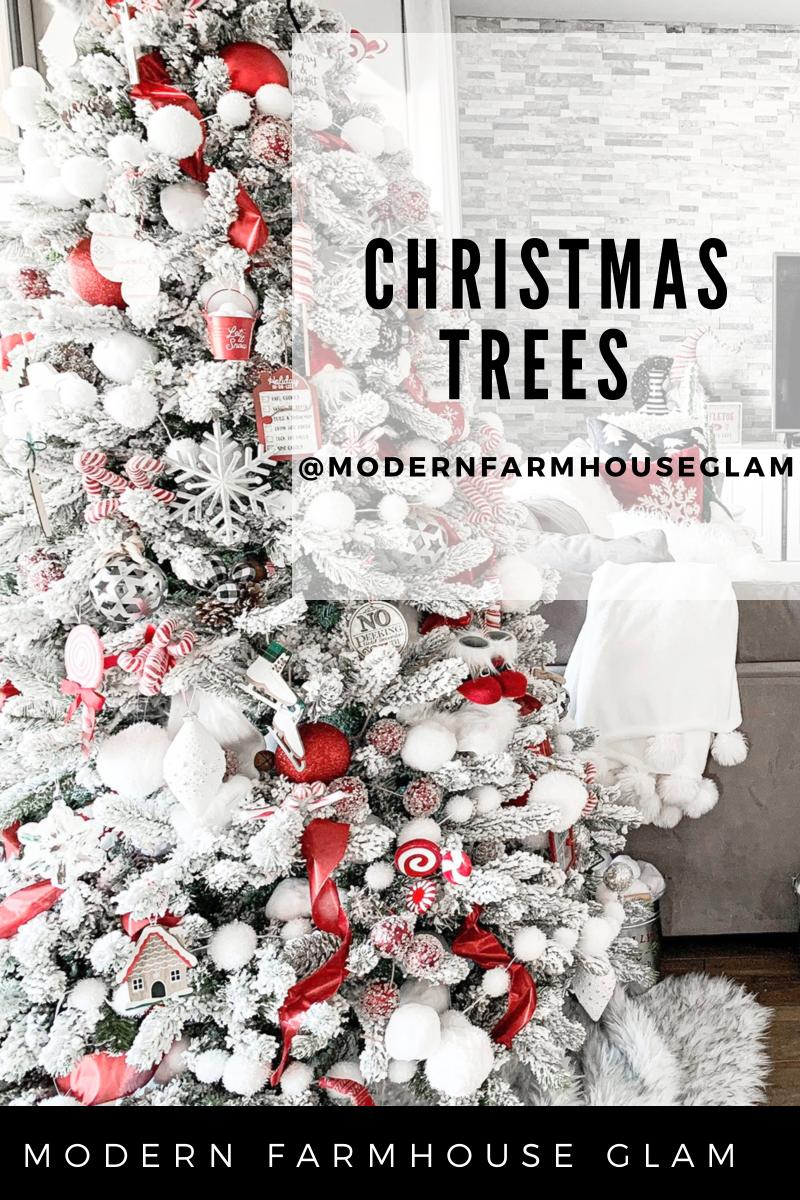 flocked christmas tree, modern farmhouse glam christmas, farmhouse christmas, ornaments, how to decorate christmas tree, snowy tree, holiday home decor
