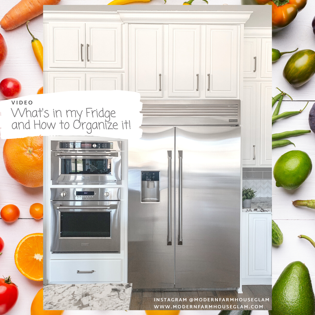 refrigerator tour and organizing home tips