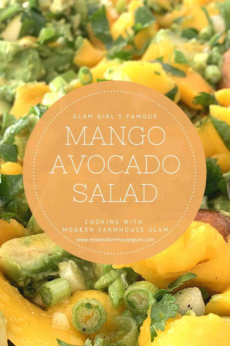 Mango Avocado Salad Recipe, healthy appetizer, fresh side dish, summer and spring recipes