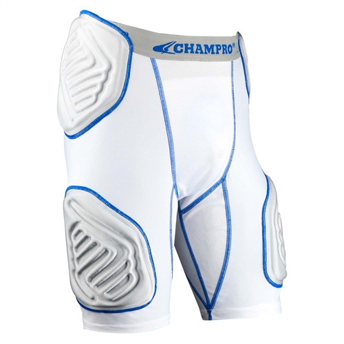 Bull Rush Integrated 5 Piece Girdle, White/Grey/Blue