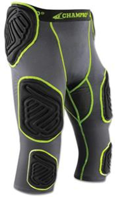 Bull Rush 7-Pad Girdle, Graphite/Black/Neon